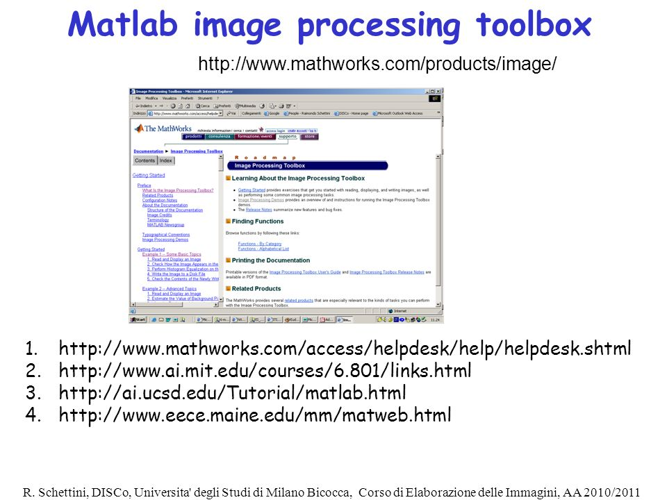 Matlab image processing toolbox