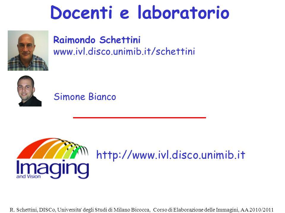 Docenti e laboratorio http://www.ivl.disco.unimib.it