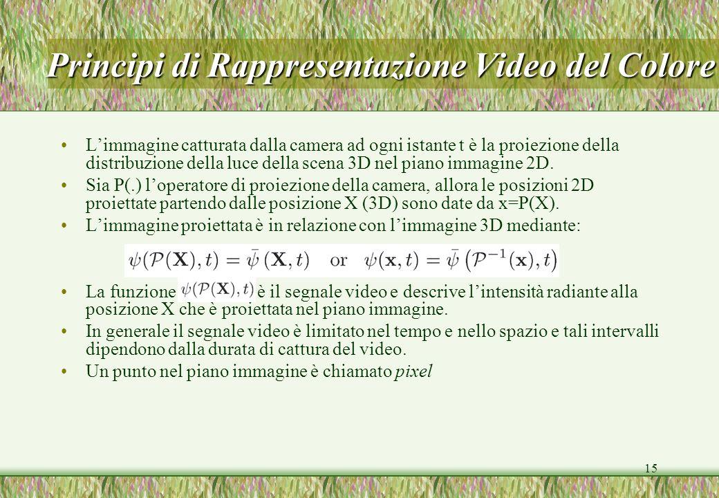 Principi di Rappresentazione Video del Colore