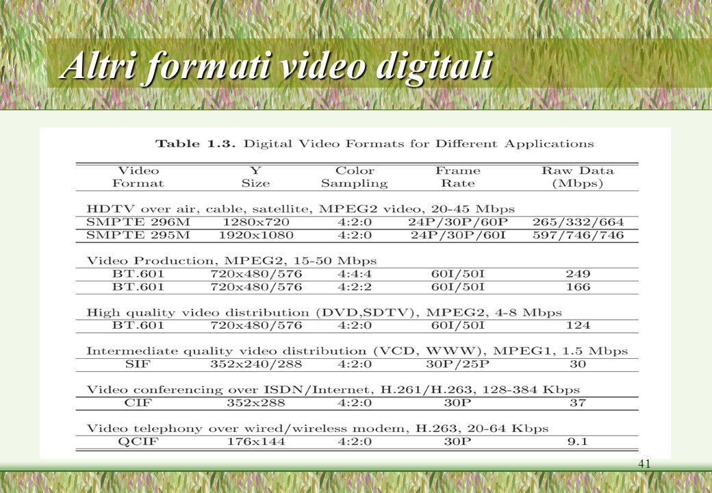 Altri formati video digitali