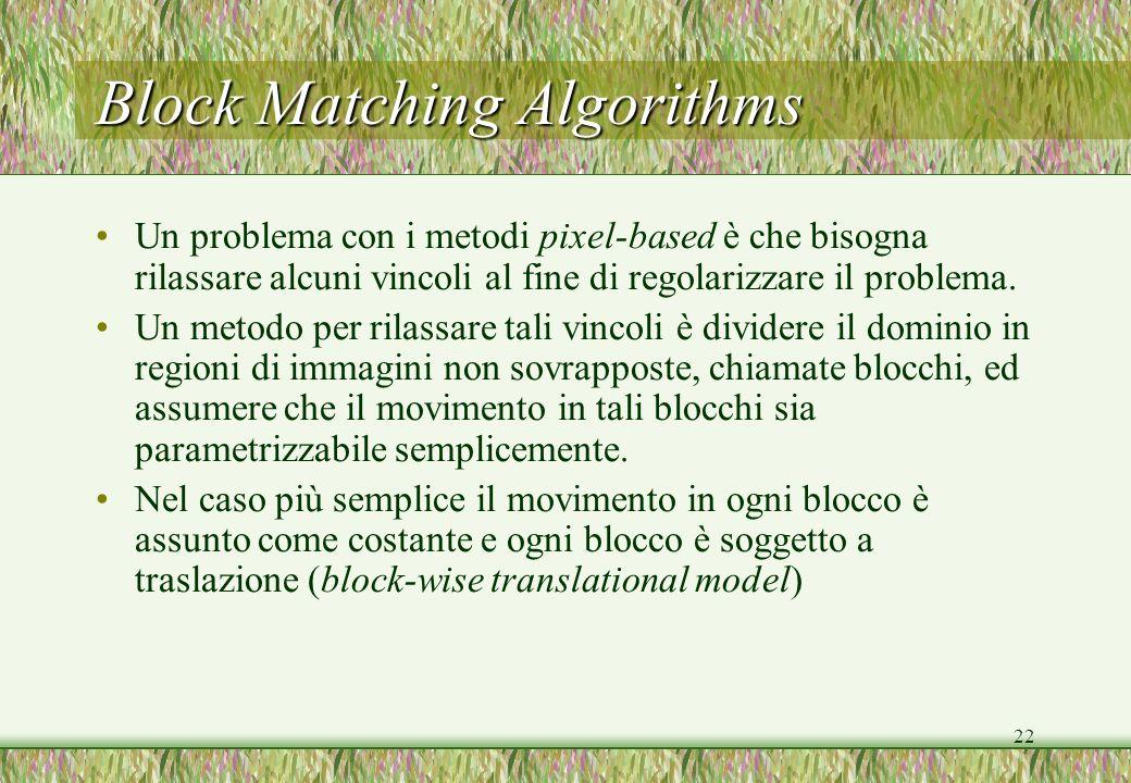 Block Matching Algorithms
