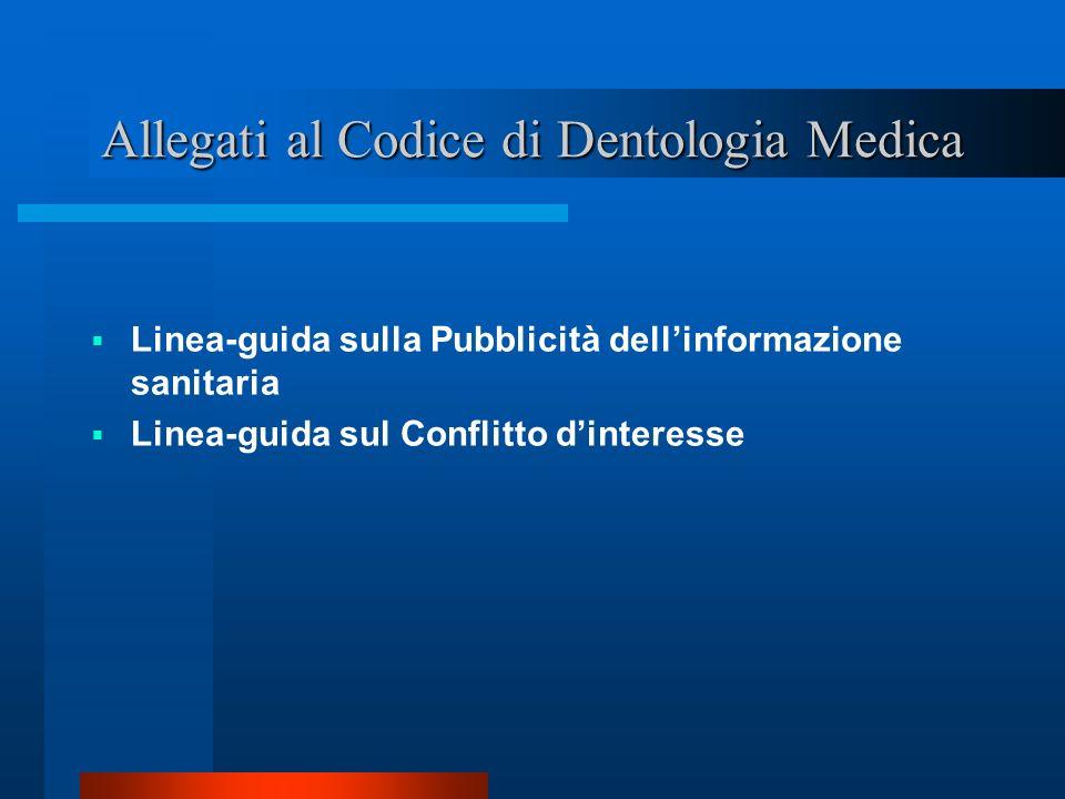 Allegati al Codice di Dentologia Medica