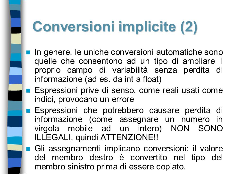 Conversioni implicite (2)