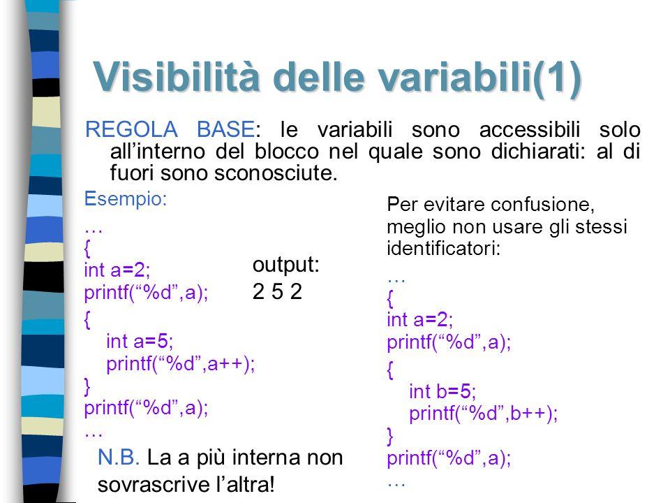 Visibilità delle variabili(1)