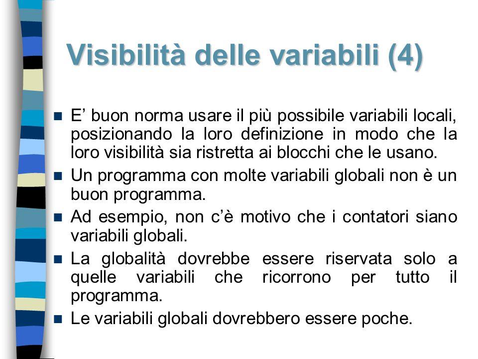 Visibilità delle variabili (4)