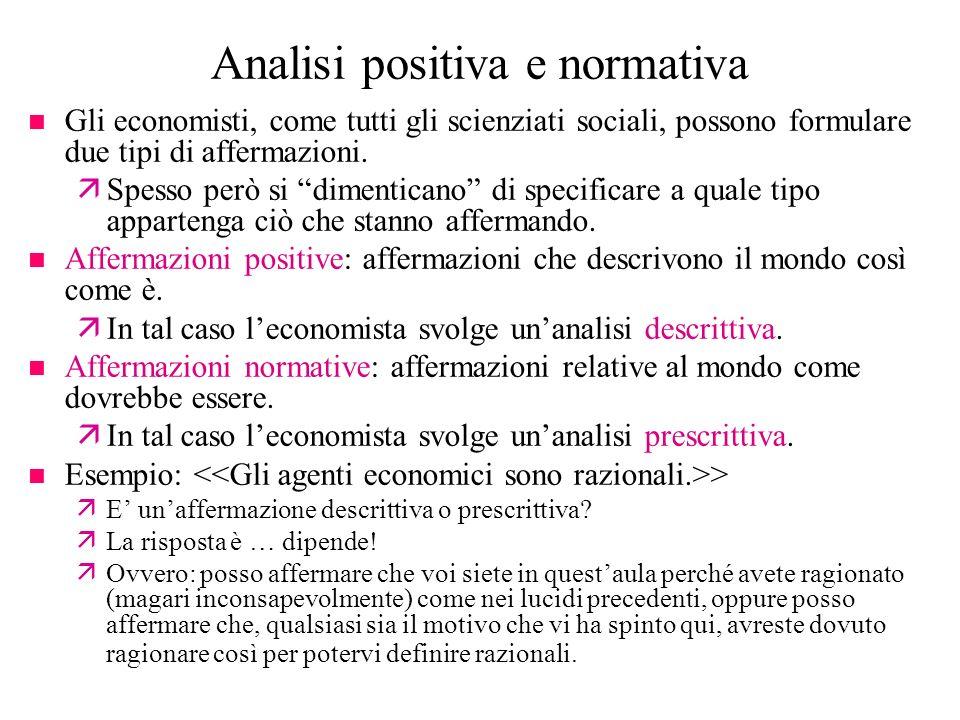 Analisi positiva e normativa