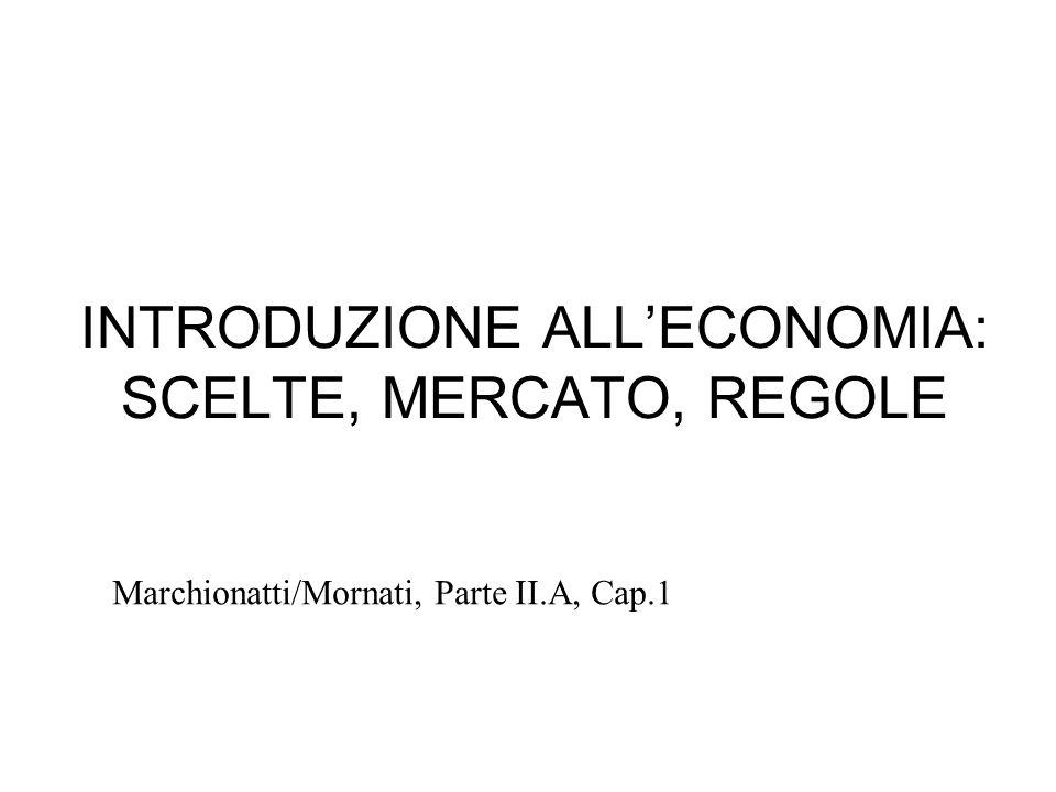 INTRODUZIONE ALL'ECONOMIA: SCELTE, MERCATO, REGOLE