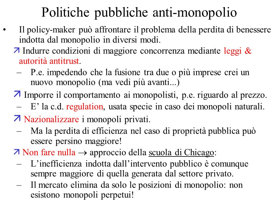 Politiche pubbliche anti-monopolio