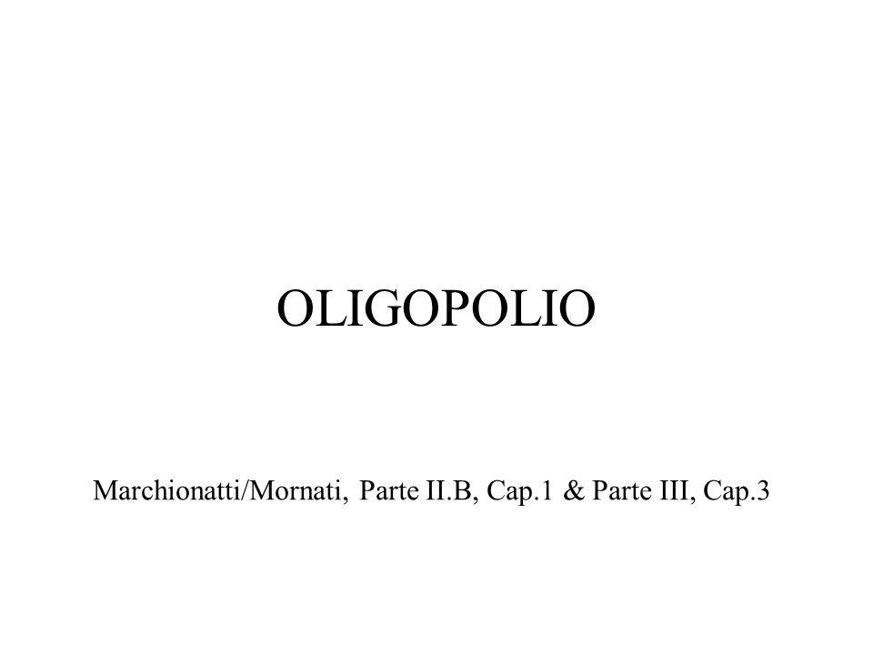 OLIGOPOLIO Marchionatti/Mornati, Parte II.B, Cap.1 & Parte III, Cap.3