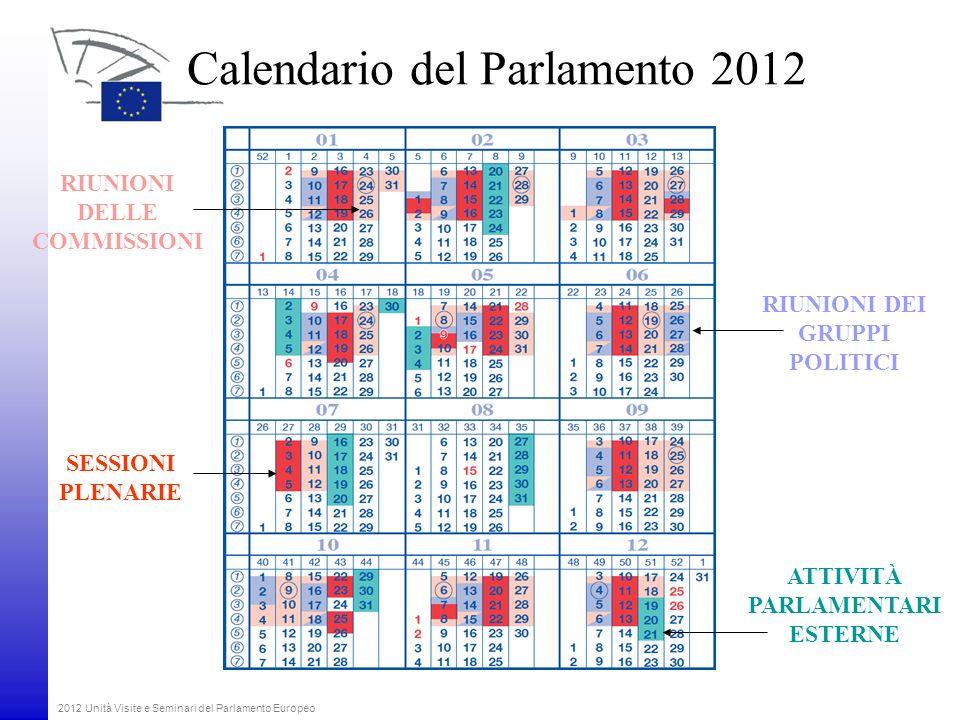 Calendario del Parlamento 2012