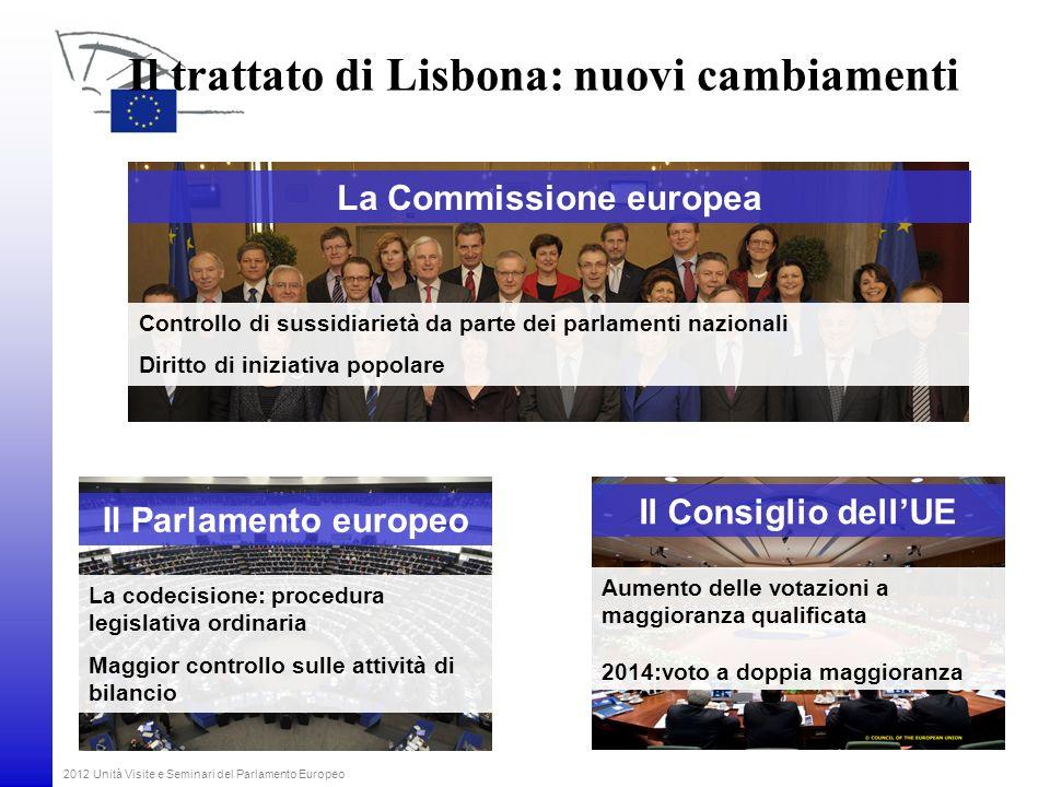 Il trattato di Lisbona: nuovi cambiamenti