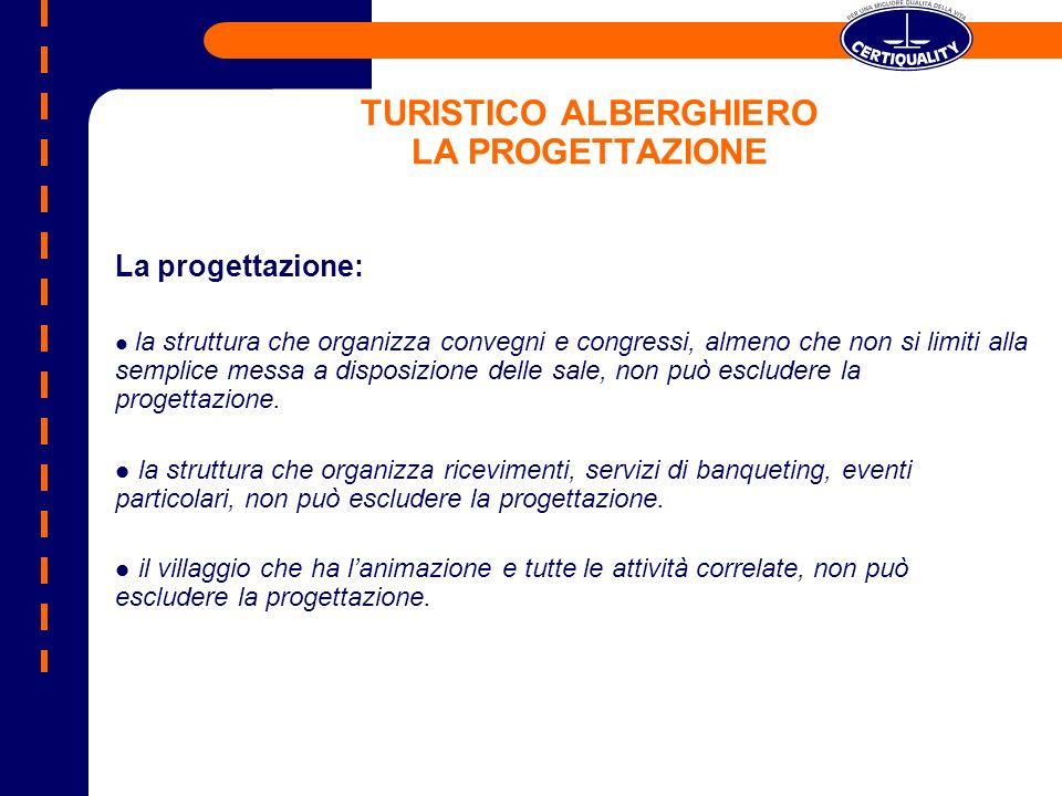 TURISTICO ALBERGHIERO LA PROGETTAZIONE