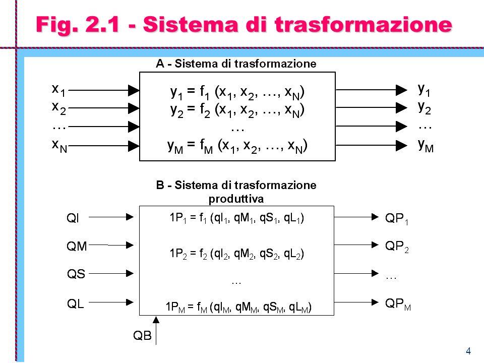 Fig. 2.1 - Sistema di trasformazione