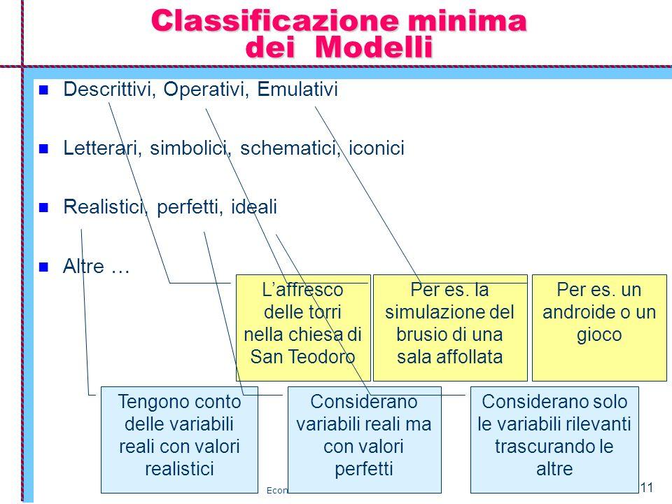 Classificazione minima dei Modelli