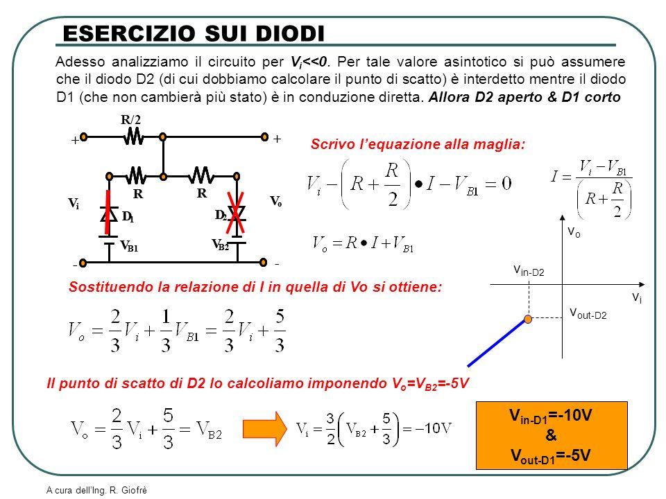 ESERCIZIO SUI DIODI Vin-D1=-10V & Vout-D1=-5V