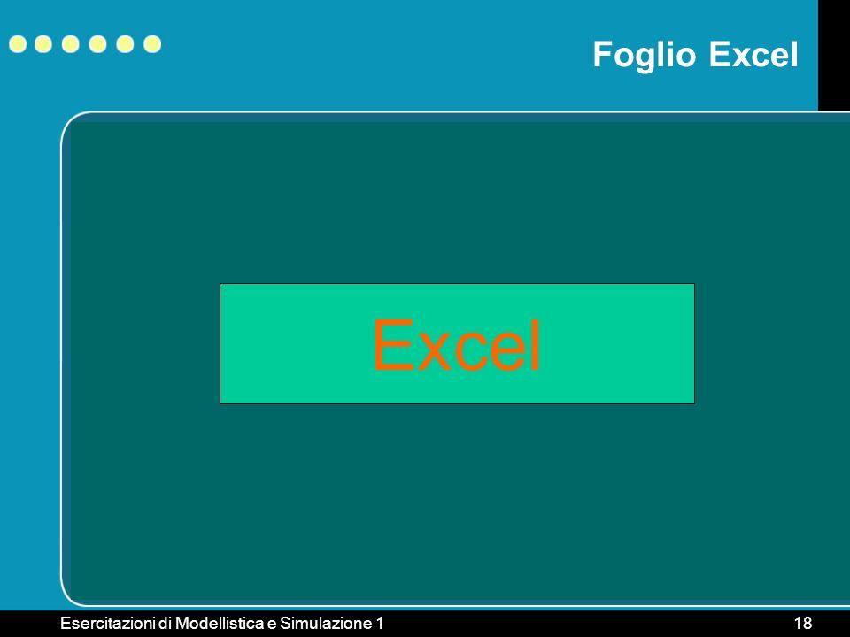 Foglio Excel Excel