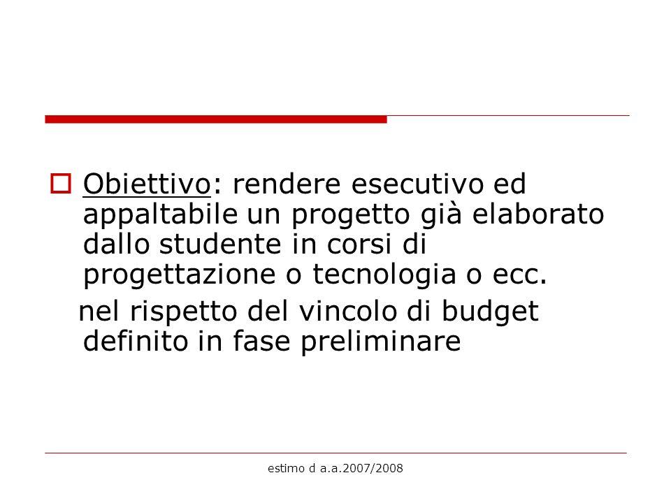 nel rispetto del vincolo di budget definito in fase preliminare