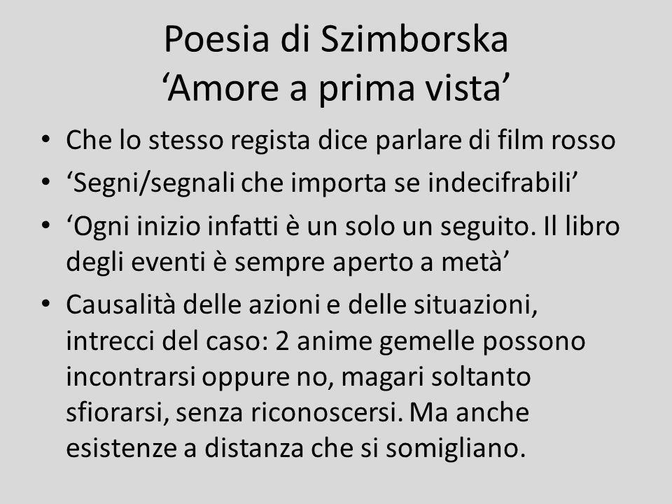 Poesia di Szimborska 'Amore a prima vista'