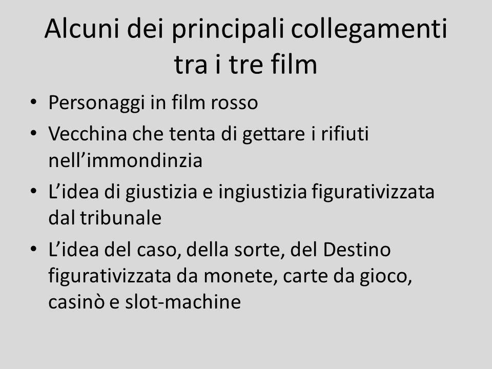 Alcuni dei principali collegamenti tra i tre film