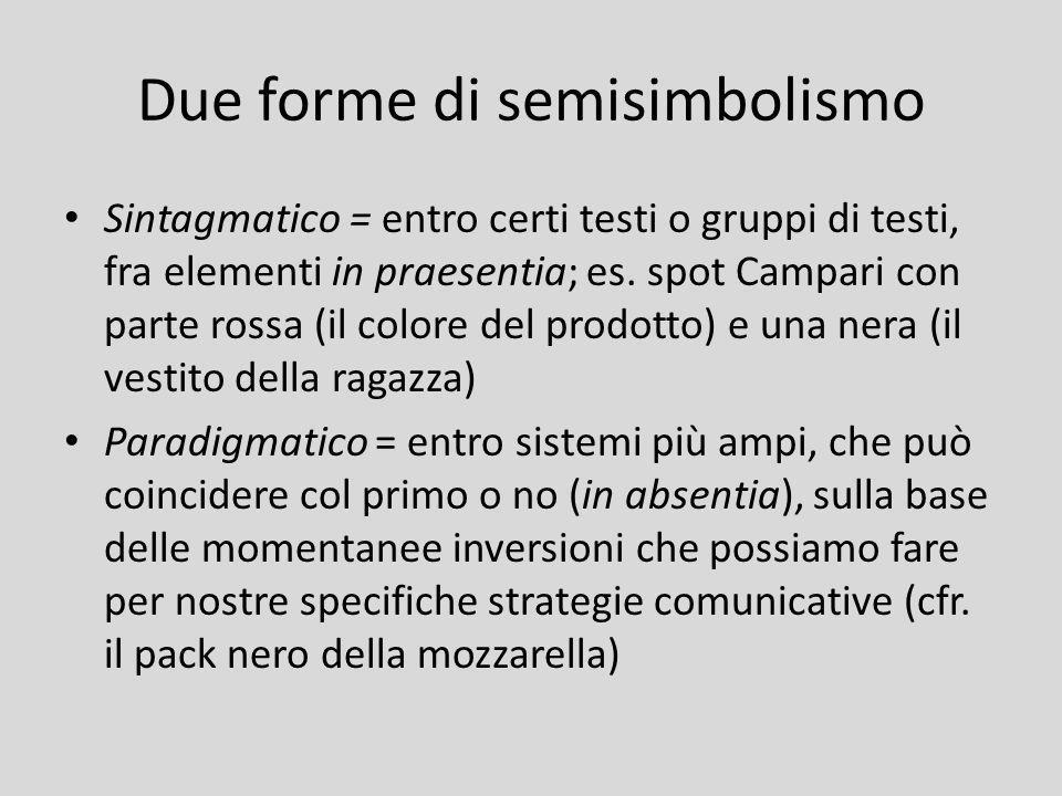 Due forme di semisimbolismo