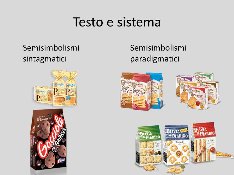 Testo e sistema Semisimbolismi sintagmatici