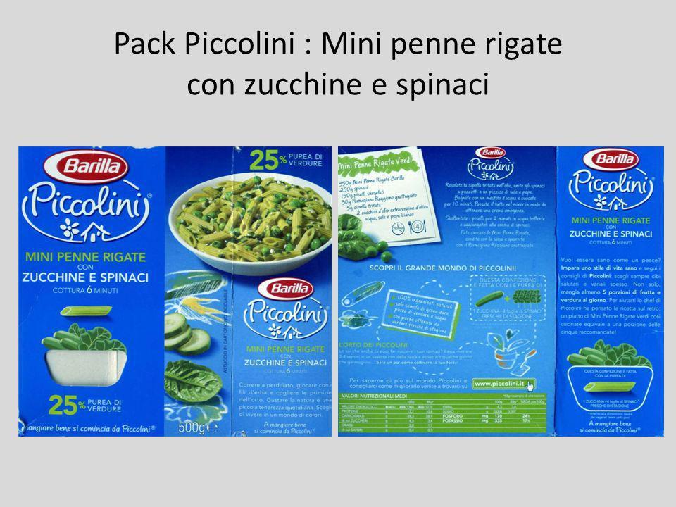 Pack Piccolini : Mini penne rigate con zucchine e spinaci