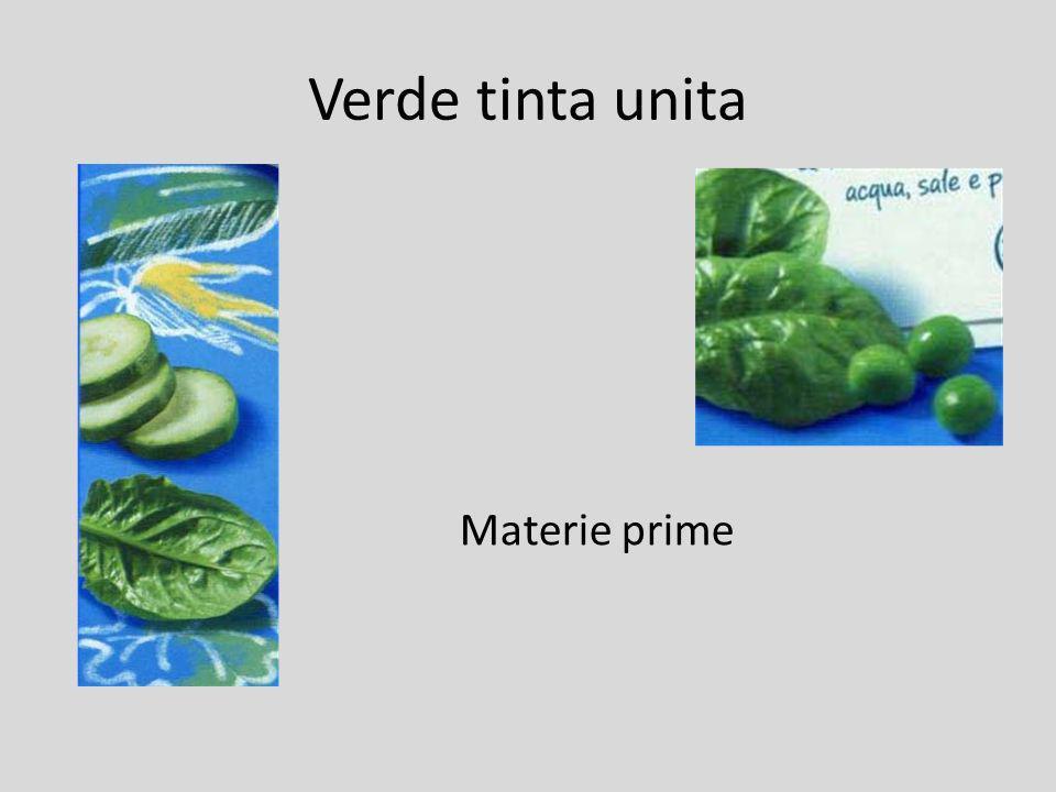 Verde tinta unita Materie prime