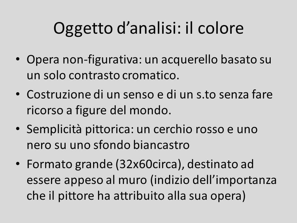 Oggetto d'analisi: il colore