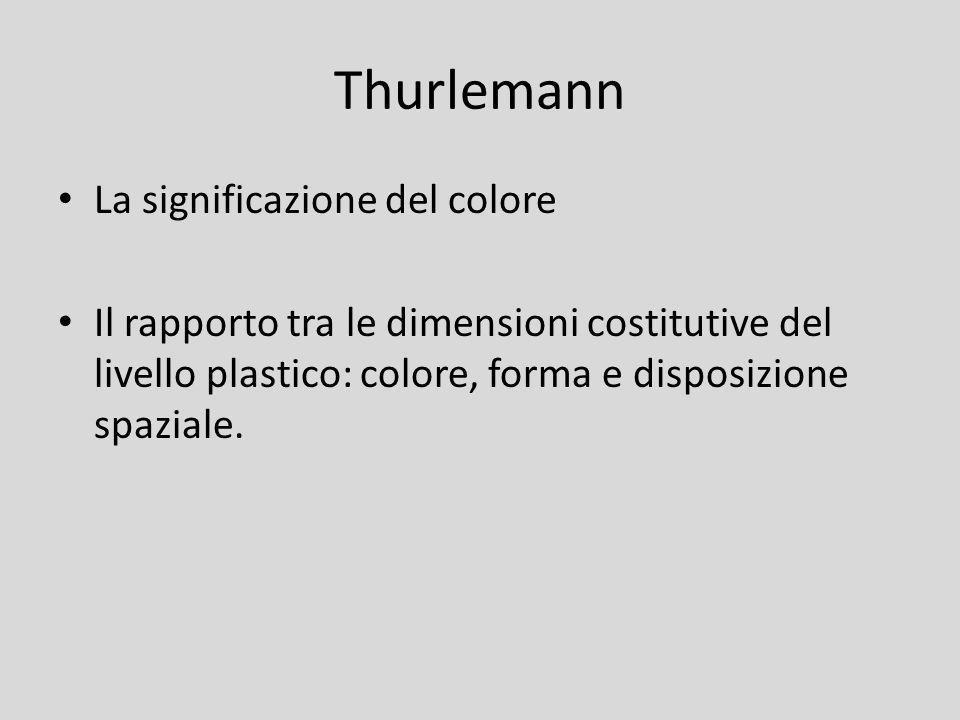 Thurlemann La significazione del colore