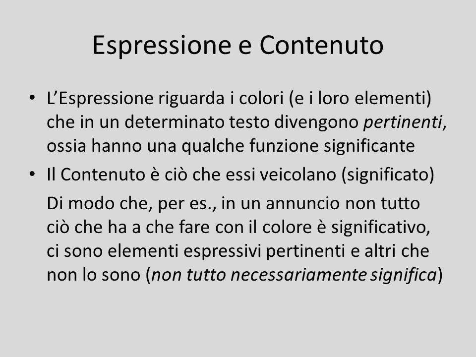 Espressione e Contenuto