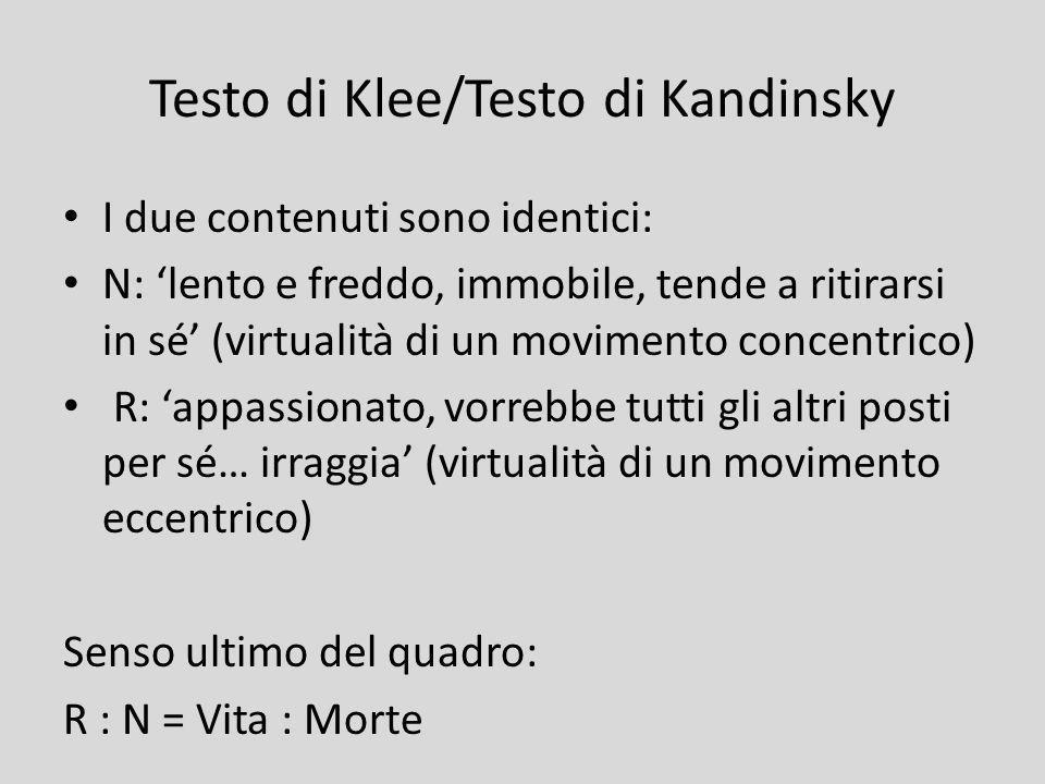 Testo di Klee/Testo di Kandinsky
