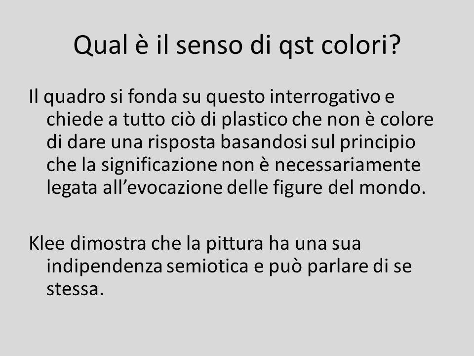 Qual è il senso di qst colori