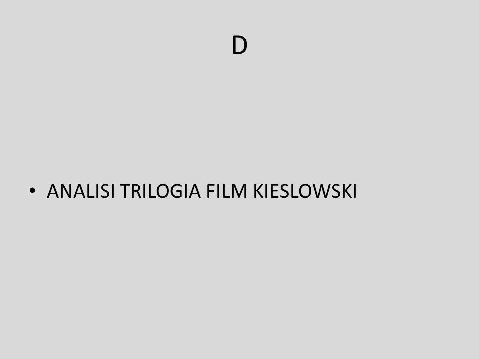 D ANALISI TRILOGIA FILM KIESLOWSKI