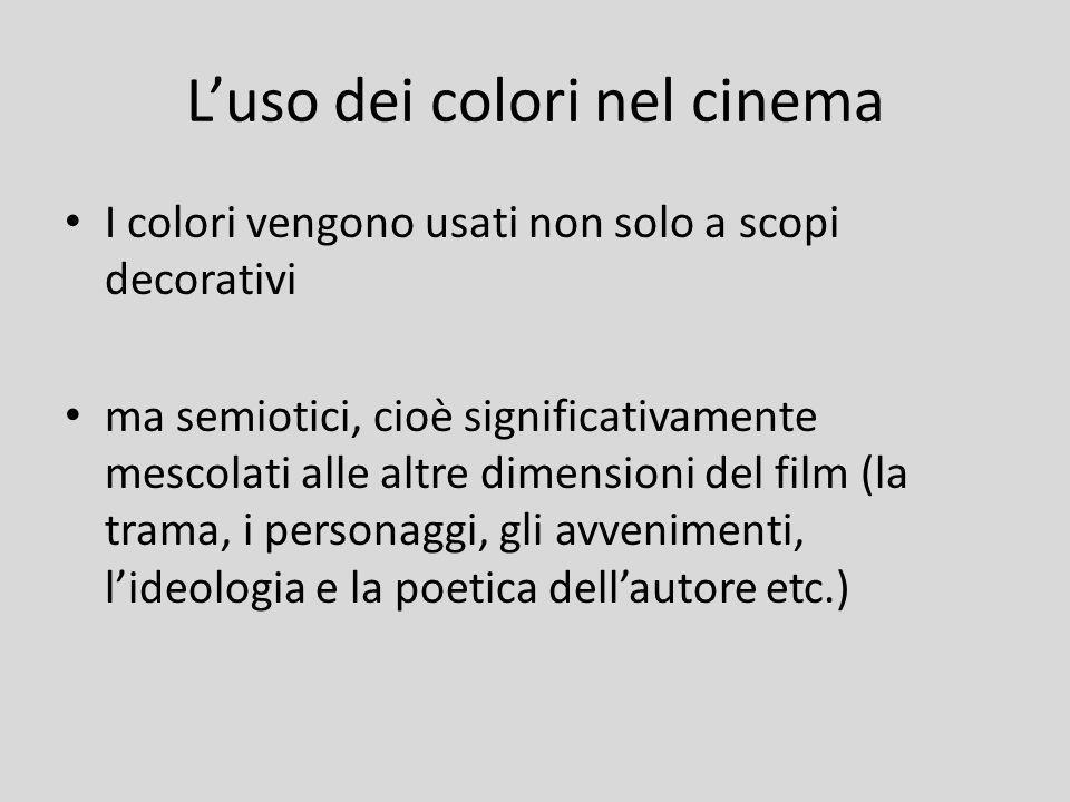 L'uso dei colori nel cinema