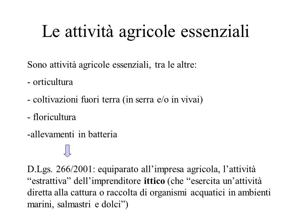 Le attività agricole essenziali
