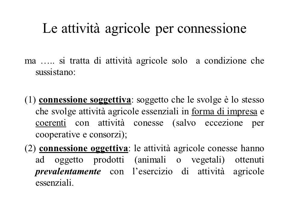 Le attività agricole per connessione