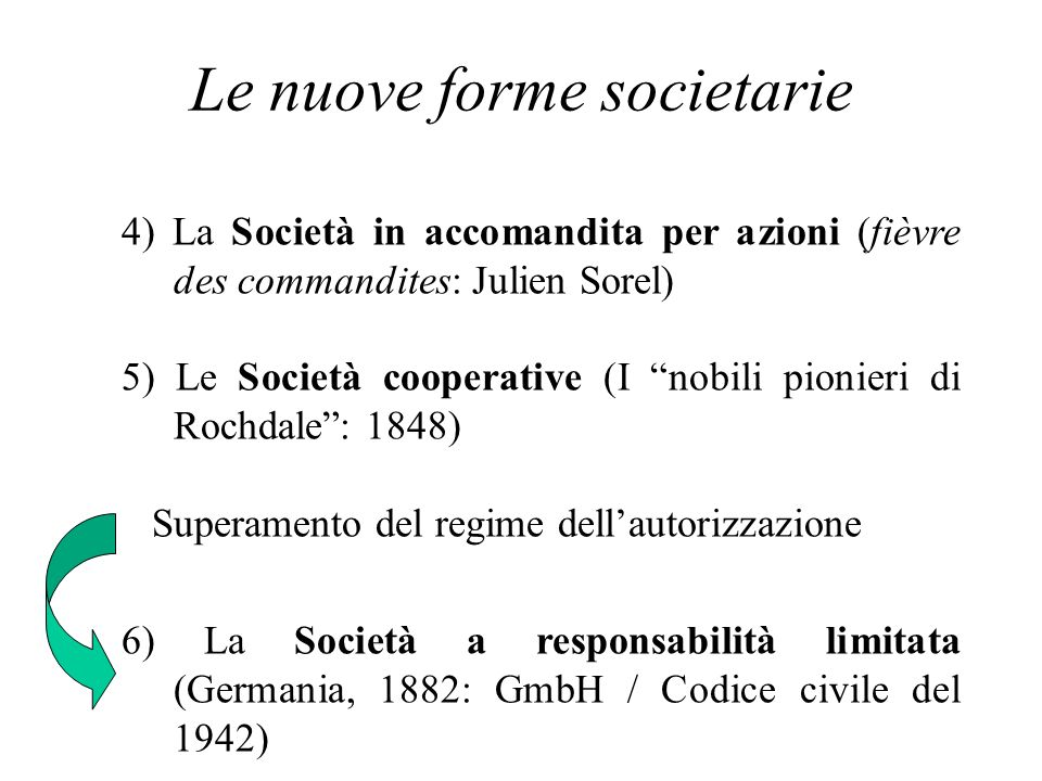 Le nuove forme societarie
