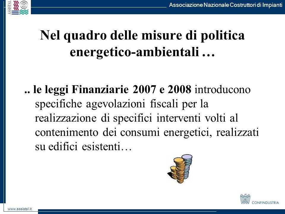 Nel quadro delle misure di politica energetico-ambientali …