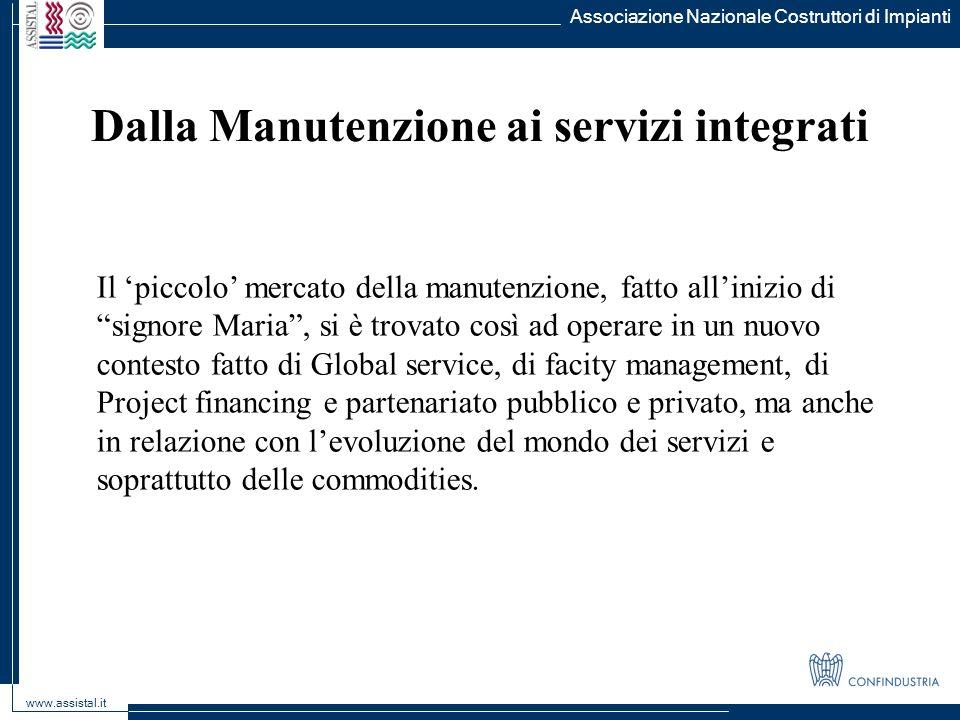 Dalla Manutenzione ai servizi integrati