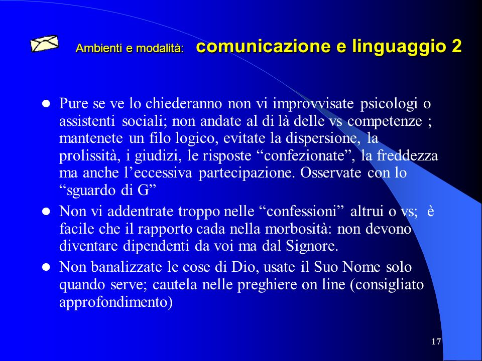 Ambienti e modalità: comunicazione e linguaggio 2