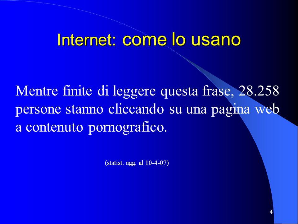 Internet: come lo usano