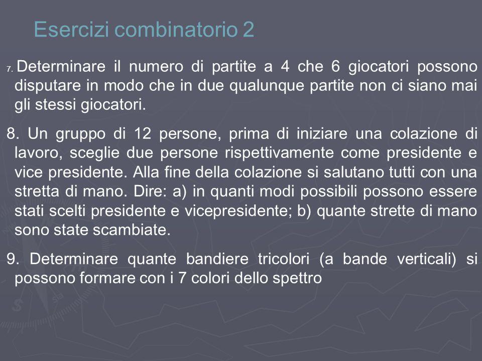 Esercizi combinatorio 2