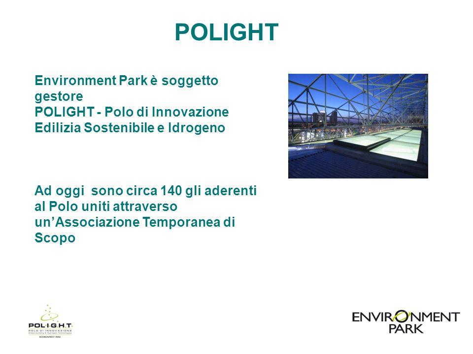 POLIGHT Environment Park è soggetto gestore POLIGHT - Polo di Innovazione Edilizia Sostenibile e Idrogeno.