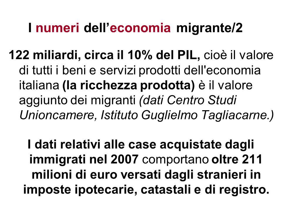 I numeri dell'economia migrante/2