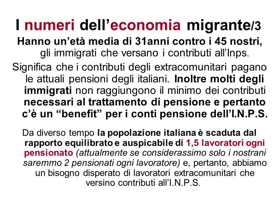 I numeri dell'economia migrante/3