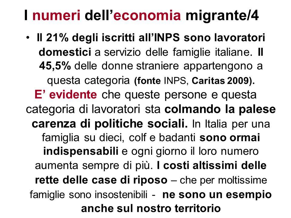 I numeri dell'economia migrante/4