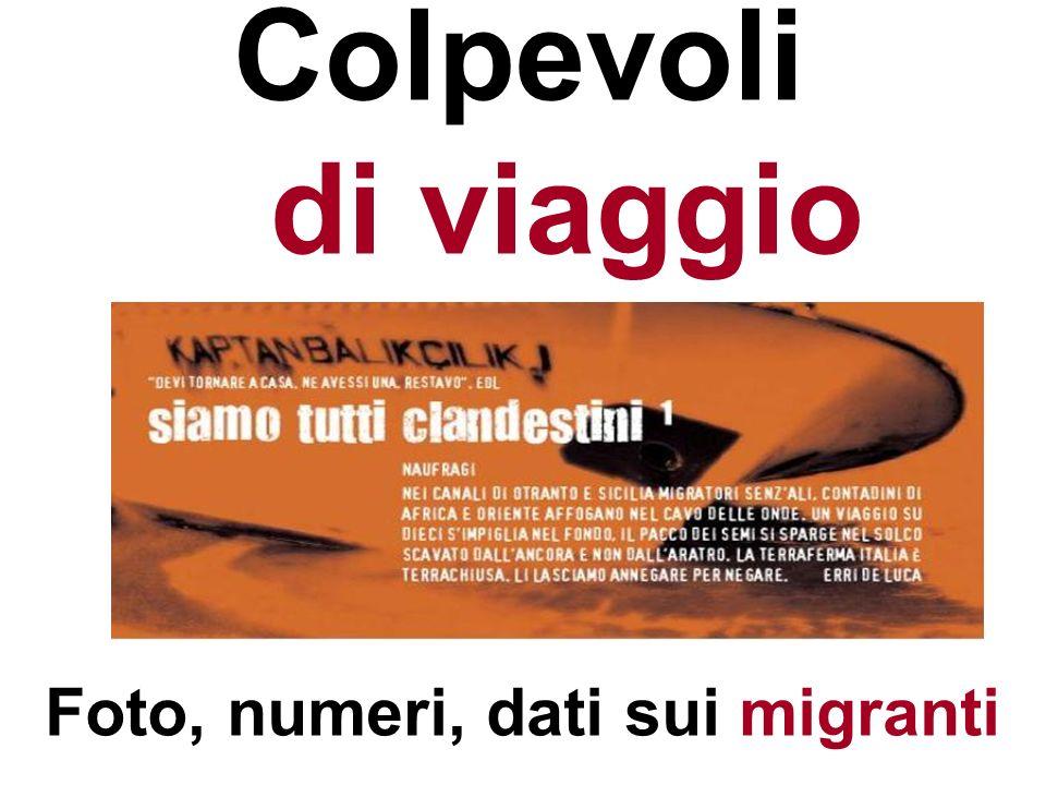 Foto, numeri, dati sui migranti