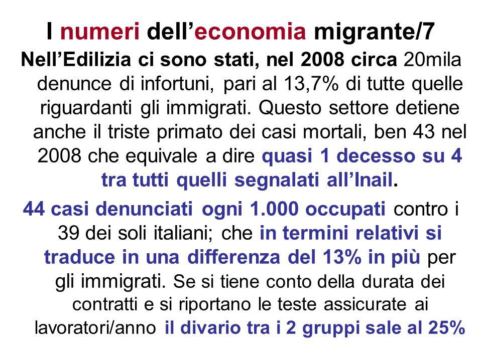 I numeri dell'economia migrante/7