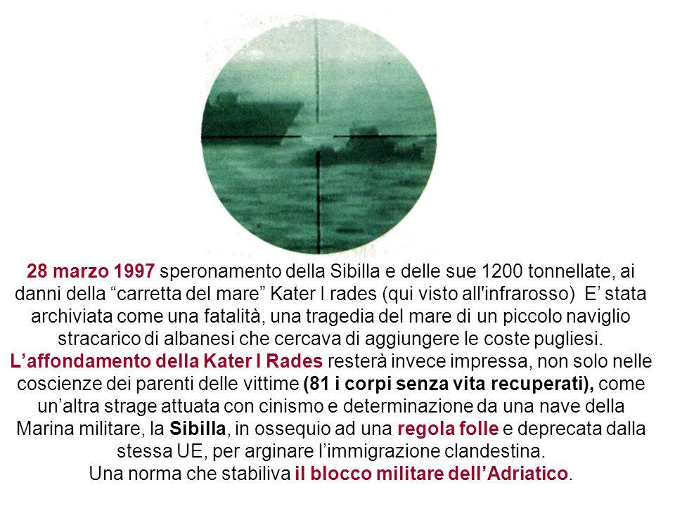 Una norma che stabiliva il blocco militare dell'Adriatico.
