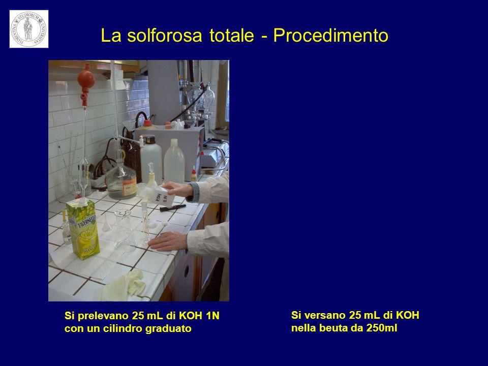 La solforosa totale - Procedimento
